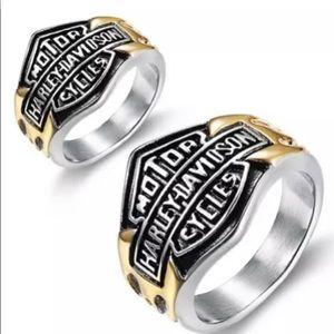 Unisex Harley Davidson Fashion Ring.